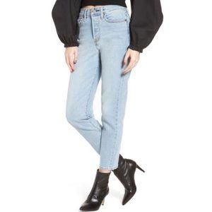 LEVI'S Wedgie High Rise Light Wash Crop Blue Jeans